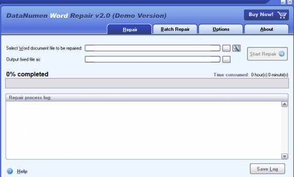 DataNumen Word Repair Ekran Görüntüleri - 1