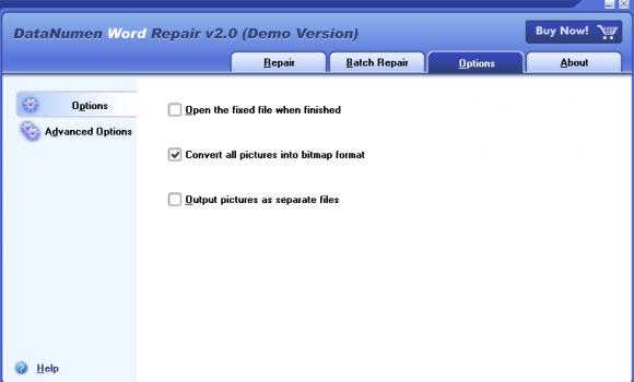 DataNumen Word Repair Ekran Görüntüleri - 2