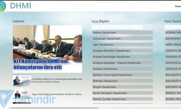 DHMİ Genel Müdürlüğü Ekran Görüntüleri - 3