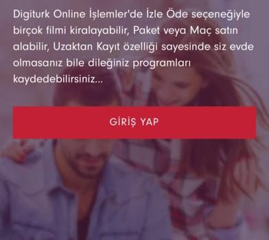 Digiturk Online İşlemler Ekran Görüntüleri - 5