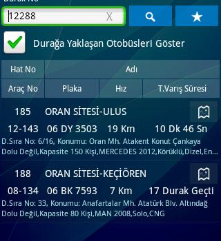 EGO Otobüs Hatları Ekran Görüntüleri - 1