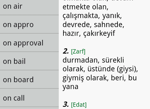 English Turkish Dictionary Ekran Görüntüleri - 3