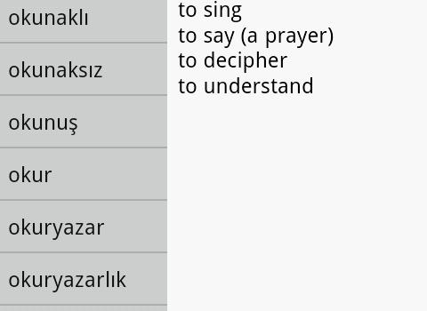 English Turkish Dictionary Ekran Görüntüleri - 2