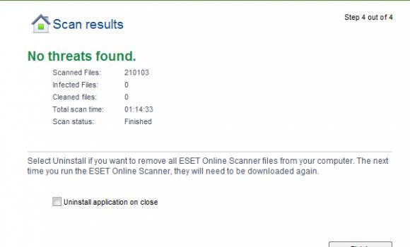 ESET Online Scanner Ekran Görüntüleri - 1