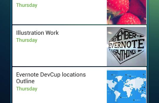 Evernote Widget Ekran Görüntüleri - 2