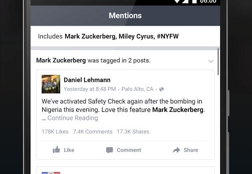 Facebook Mentions Ekran Görüntüleri - 3