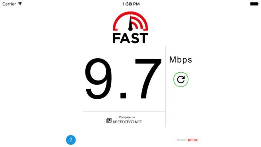 FAST Speed Test Ekran Görüntüleri - 1