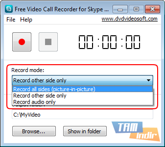 Free Video Call Recorder for Skype Ekran Görüntüleri - 4