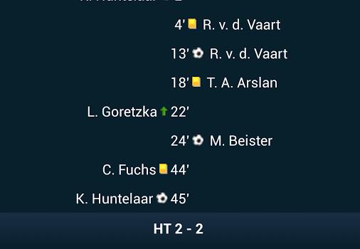 Goal Live Scores Ekran Görüntüleri - 2
