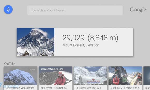 Google app for Android TV Ekran Görüntüleri - 1