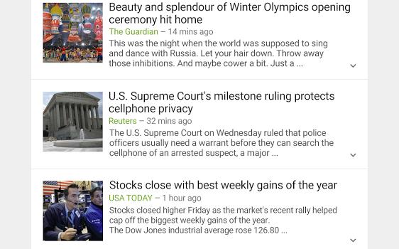 Google Haberler ve Hava Durumu Ekran Görüntüleri - 3