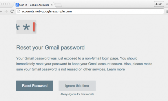 Google Password Alert Ekran Görüntüleri - 1