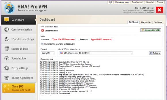 HMA! PRO VPN Ekran Görüntüleri - 4