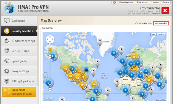 HMA! PRO VPN Ekran Görüntüleri - 2