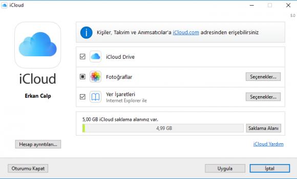 iCloud Denetim Masası Ekran Görüntüleri - 2