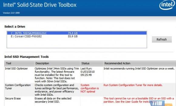 Intel SSD Toolbox Ekran Görüntüleri - 2
