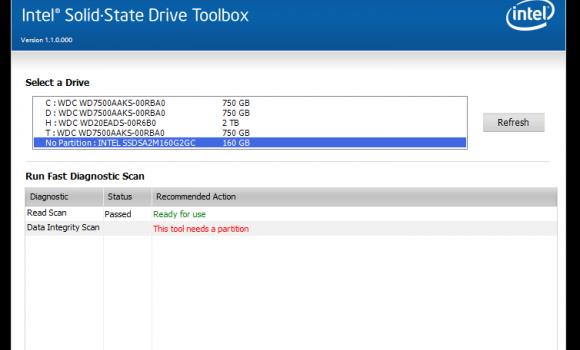 Intel SSD Toolbox Ekran Görüntüleri - 1