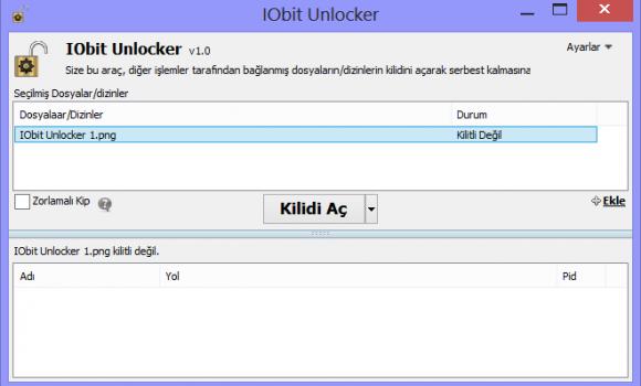 IObit Unlocker Ekran Görüntüleri - 1