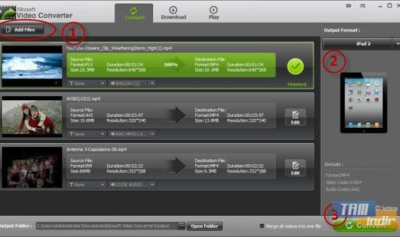 iSkysoft Video Converter Ekran Görüntüleri - 1
