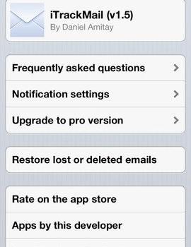 iTrackMail Ekran Görüntüleri - 4
