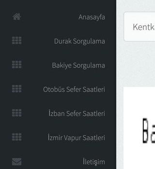 İzmir Gelişmiş Ulaşım Sistemi Ekran Görüntüleri - 3