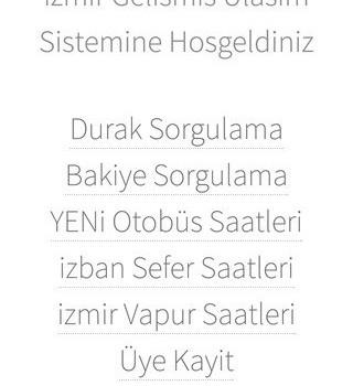 İzmir Gelişmiş Ulaşım Sistemi Ekran Görüntüleri - 2
