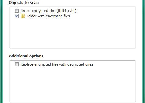 Kaspersky Ransomware Decryptor Ekran Görüntüleri - 1