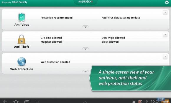 Kaspersky Tablet Security Ekran Görüntüleri - 3