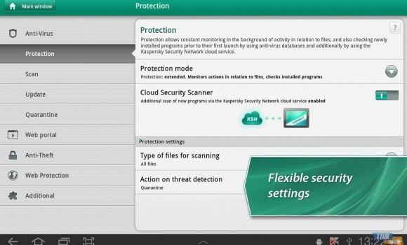 Kaspersky Tablet Security Ekran Görüntüleri - 1