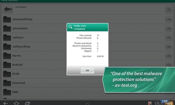 Kaspersky Tablet Security Ekran Görüntüleri - 2