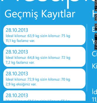 Kilo Hesaplama Ekran Görüntüleri - 2
