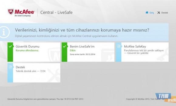 McAfee Central Ekran Görüntüleri - 3