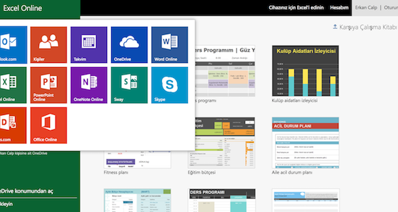Microsoft Excel Online Ekran Görüntüleri - 2