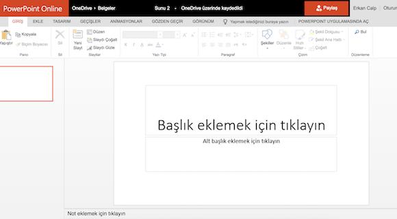 Microsoft PowerPoint Online Ekran Görüntüleri - 1