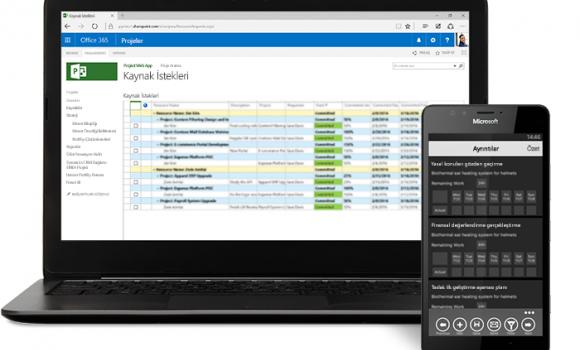 Microsoft Project Ekran Görüntüleri - 1