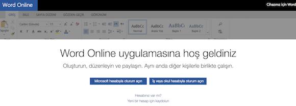 Microsoft Word Online Ekran Görüntüleri - 3