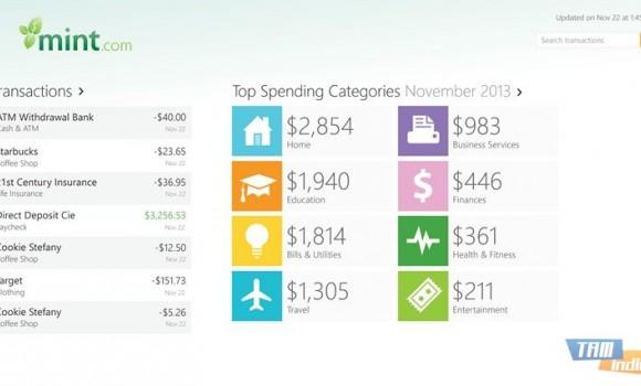 Mint.com Personal Finance Ekran Görüntüleri - 2