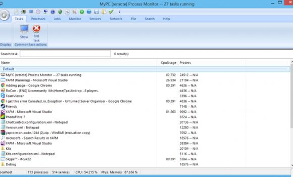 MYPC Process Monitor Ekran Görüntüleri - 1