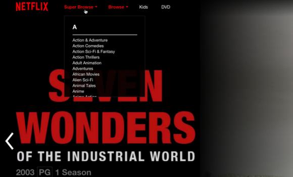 Netflix Super Browse Ekran Görüntüleri - 1