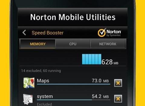 Norton Mobile Utilities Ekran Görüntüleri - 1