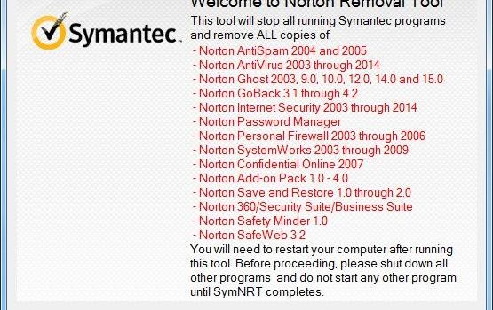 Norton Removal Tool Ekran Görüntüleri - 1
