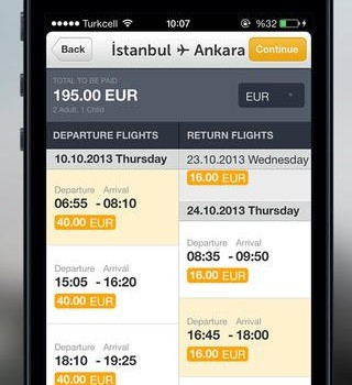 Pegasus Airlines Mobile Ekran Görüntüleri - 2