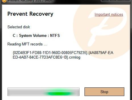 Prevent Recovery Ekran Görüntüleri - 1