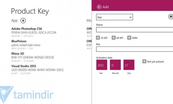 Product Keys Ekran Görüntüleri - 2