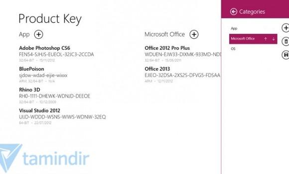 Product Keys Ekran Görüntüleri - 1