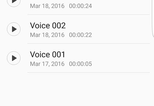 Samsung Voice Recorder Ekran Görüntüleri - 1