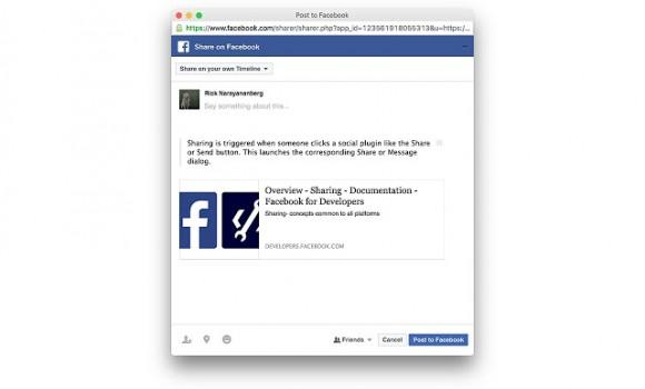Share to Facebook Ekran Görüntüleri - 1