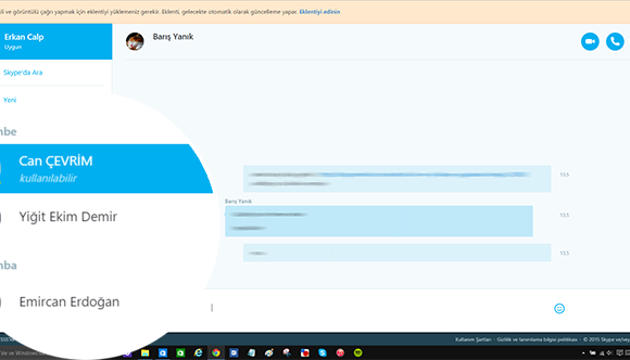 Skype Ekran Görüntüleri - 5
