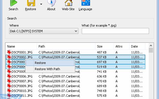 SoftPerfect File Recovery Ekran Görüntüleri - 1