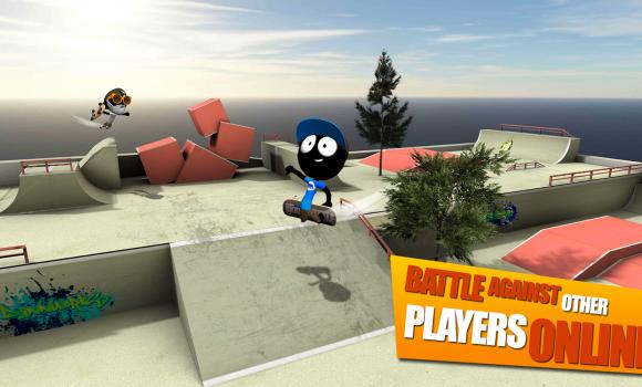 Stickman Skate Battle Ekran Görüntüleri - 4